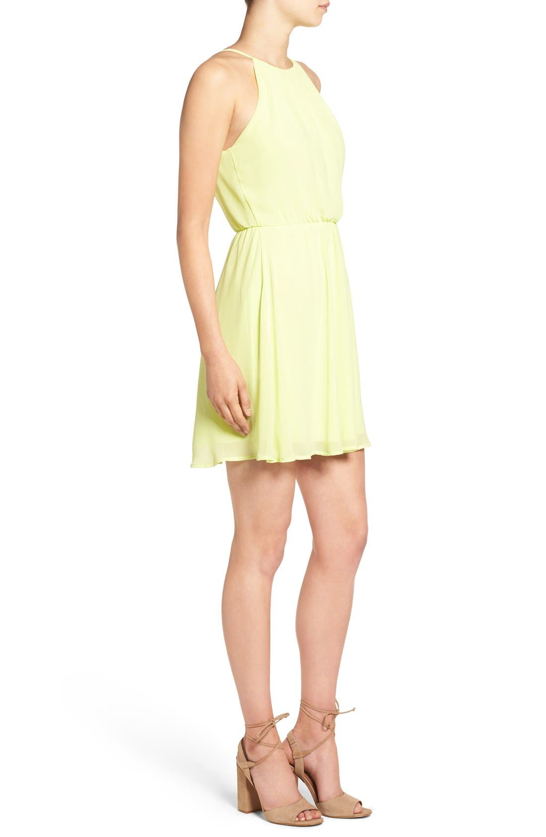 ,                             Blouson Chiffon Skater Dress,                             Alternate thumbnail 226, color,                             732