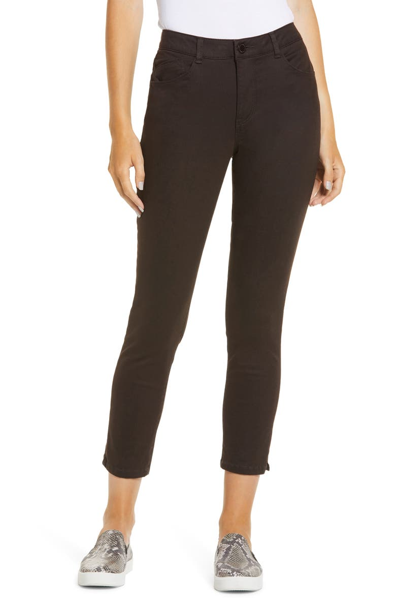 WIT & WISDOM Ab-Solution High Waist Ankle Skinny Pants, Main, color, BROWN