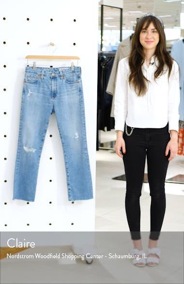 Jodi Distressed Crop Flare Jeans, sales video thumbnail