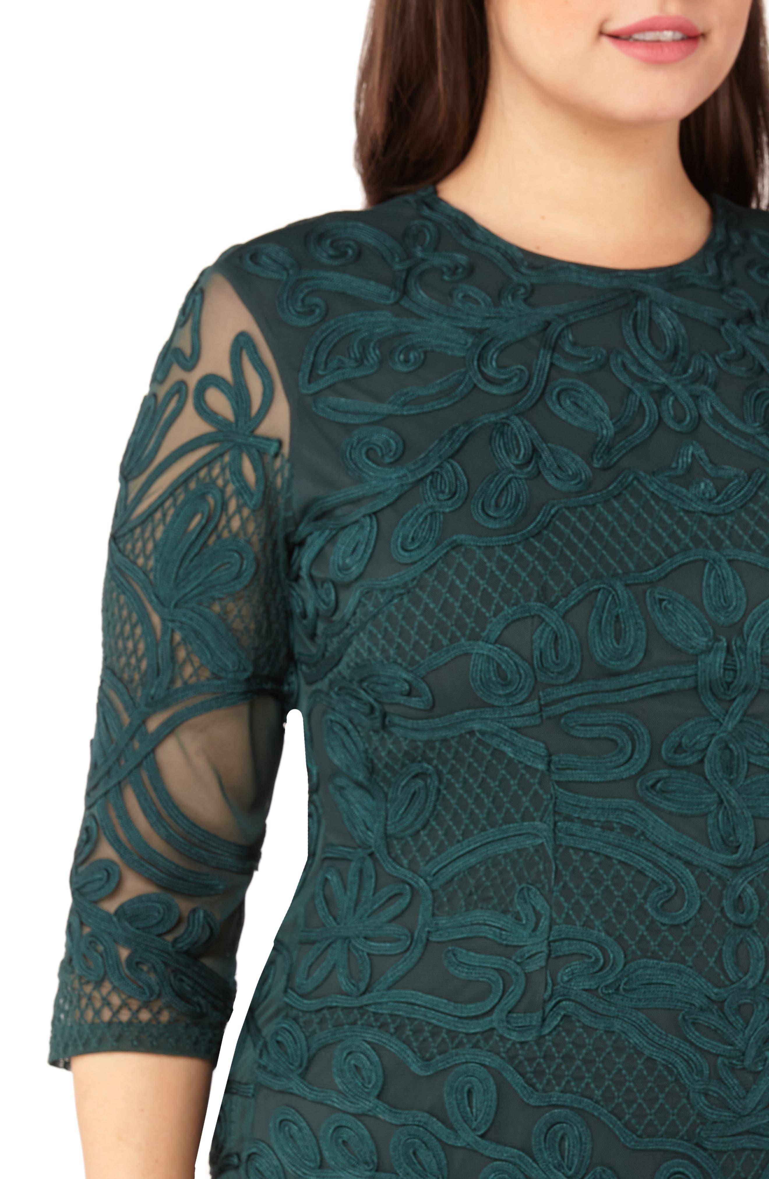 ,                             Soutache Sheath Dress,                             Alternate thumbnail 5, color,                             309