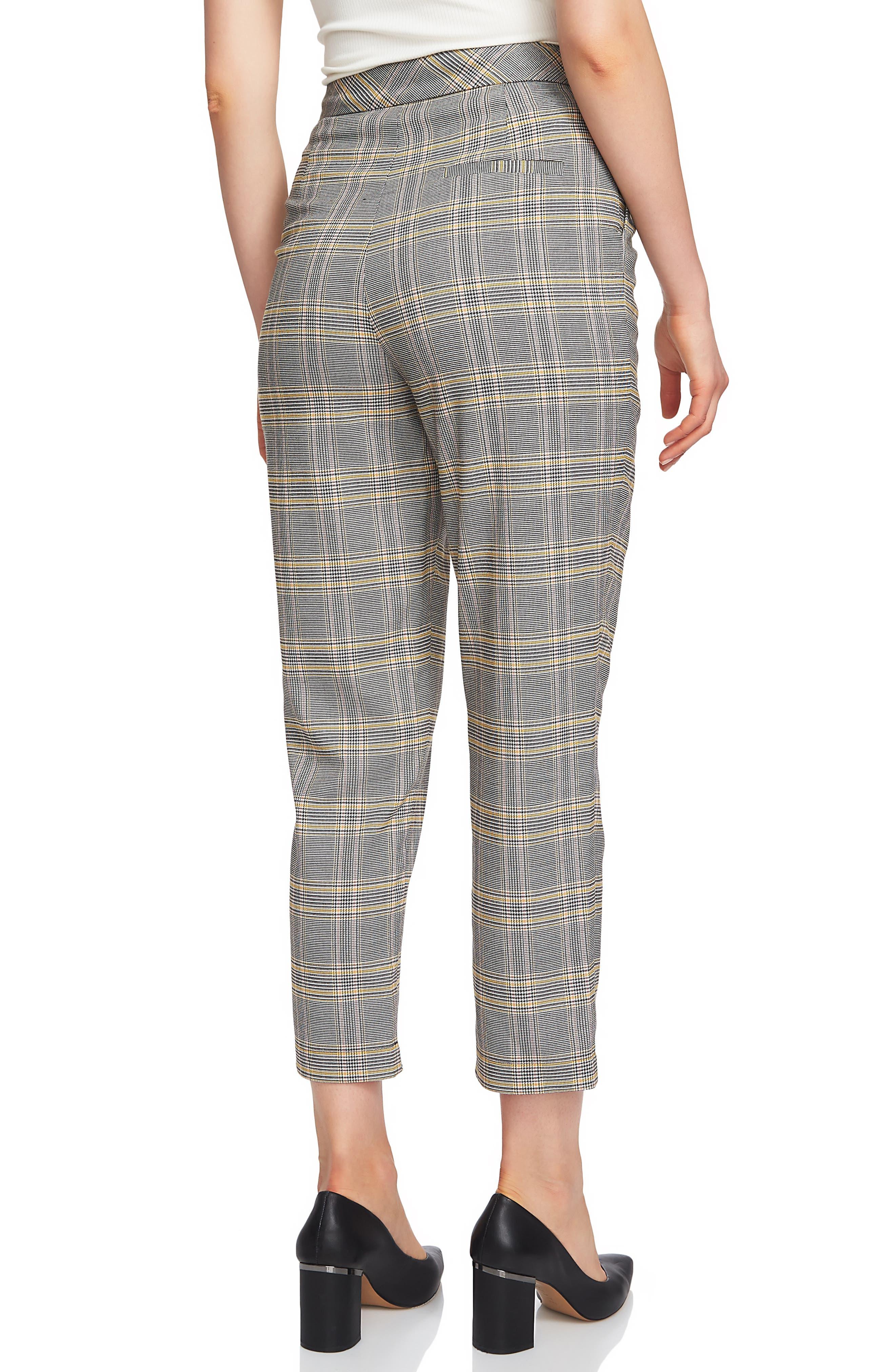 ,                             Menswear Plaid Taper Ankle Pants,                             Alternate thumbnail 2, color,                             RICH BLACK
