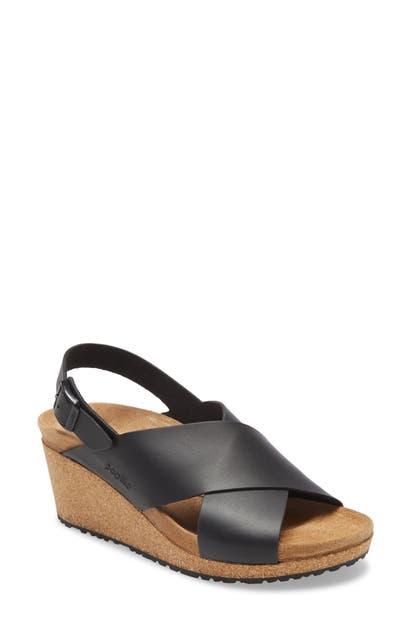 Birkenstock Samira Wedge Sandal In Cognac Leather