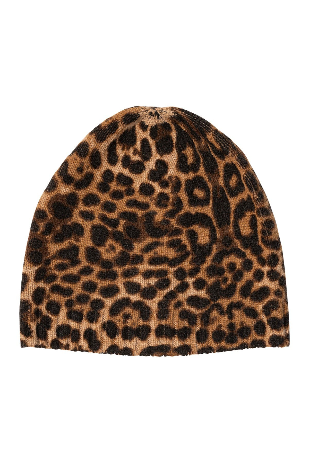 Image of AMICALE Cashmere Animal Print Beanie