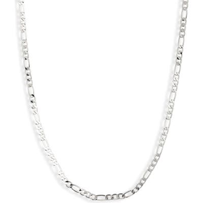 Sterling Forever Figaro Chain Necklace