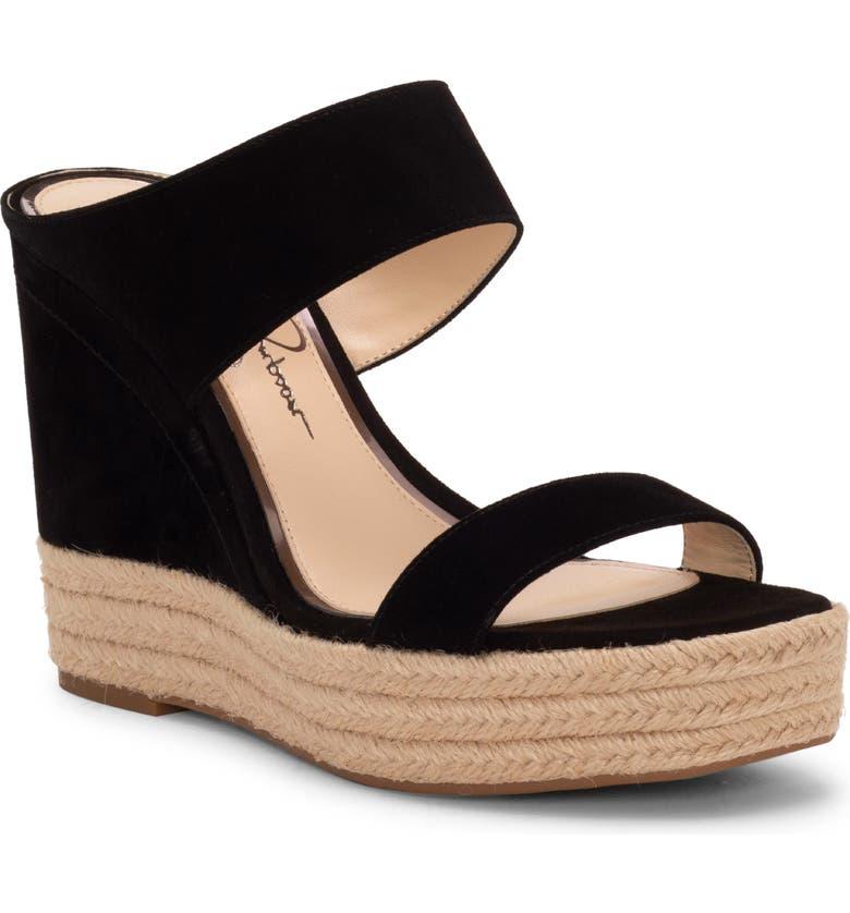 JESSICA SIMPSON Siera Espadrille Wedge Slide Sandal, Main, color, 001
