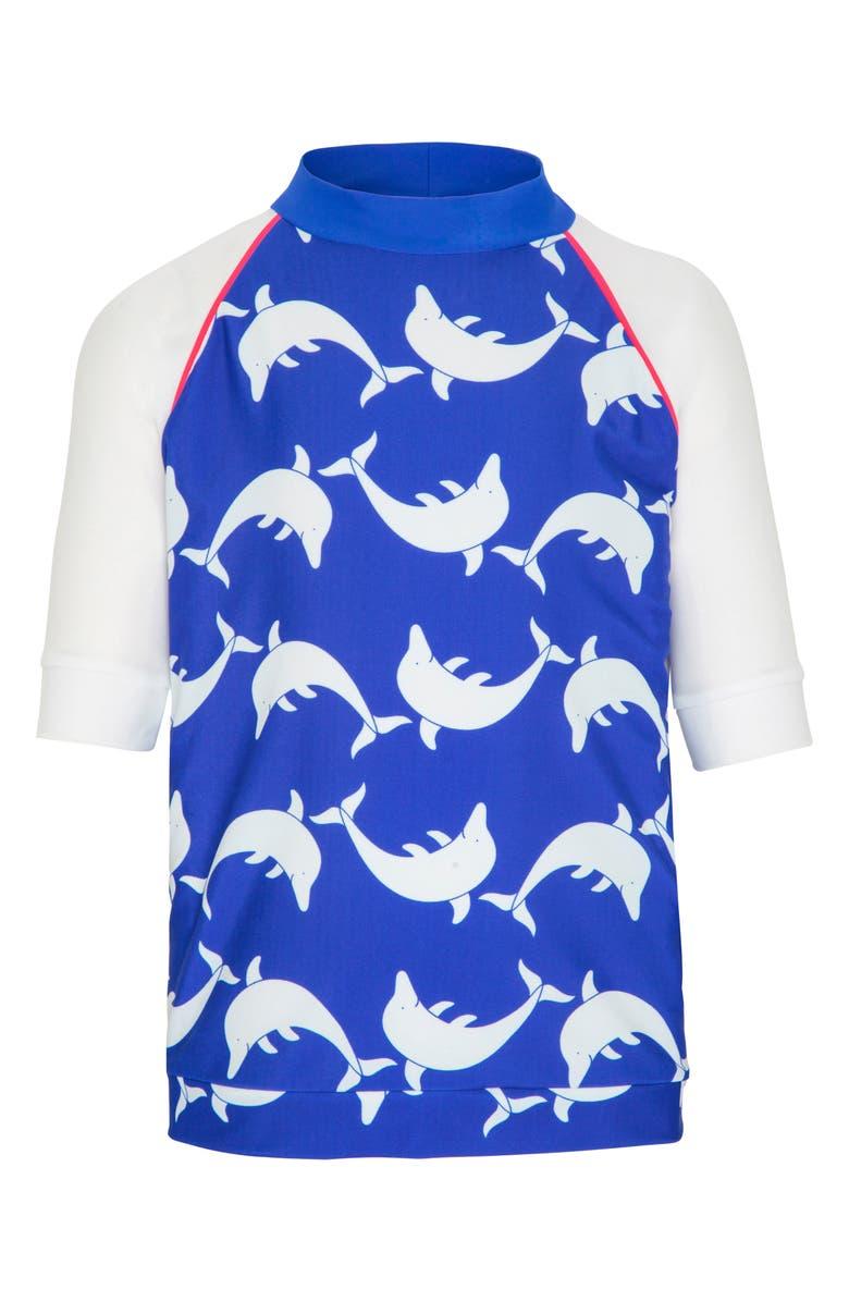 PLATYPUS AUSTRALIA Print Rashguard, Main, color, BLUE