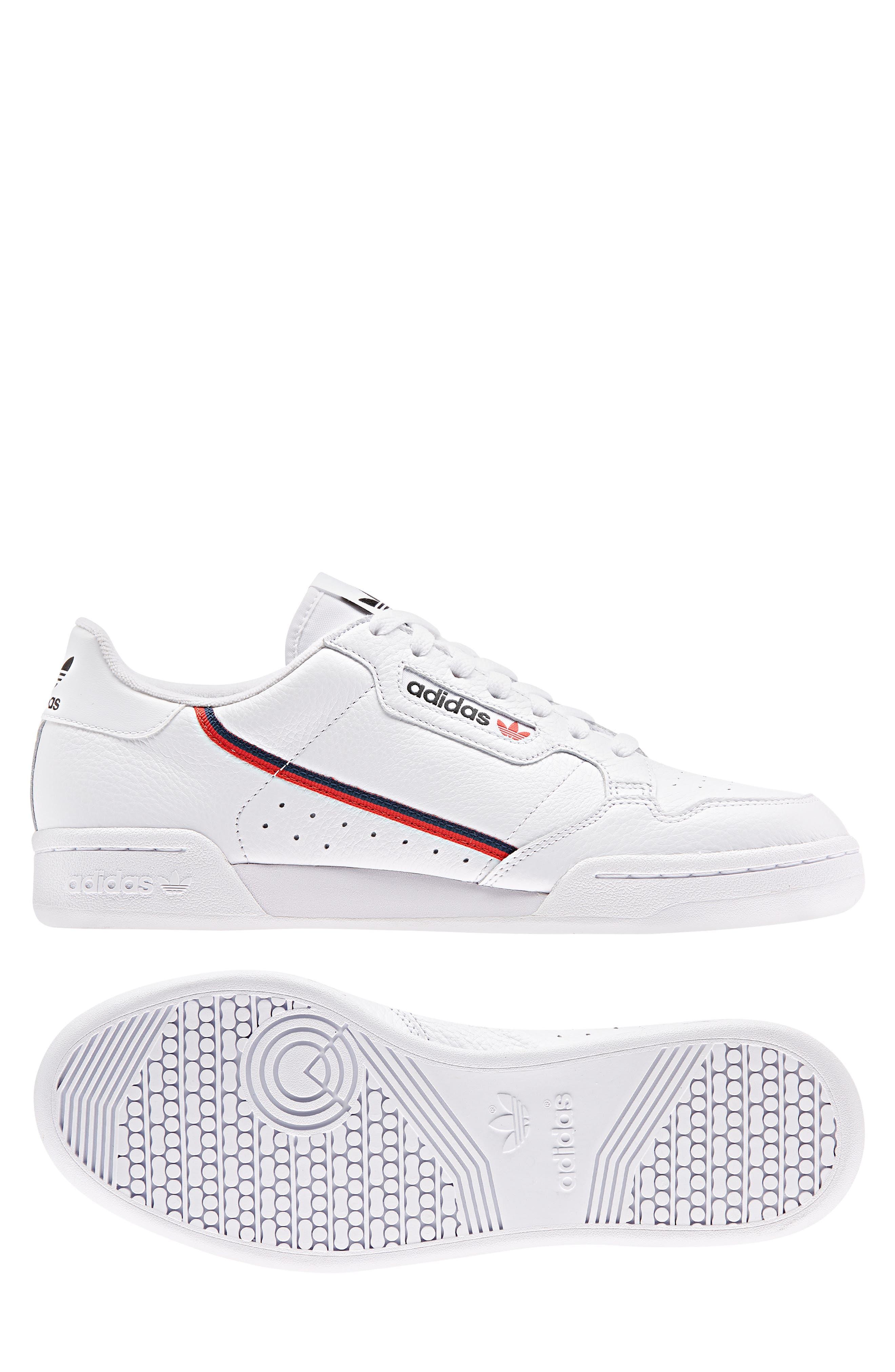 ,                             Continental 80 Sneaker,                             Alternate thumbnail 10, color,                             WHITE/ SCARLET