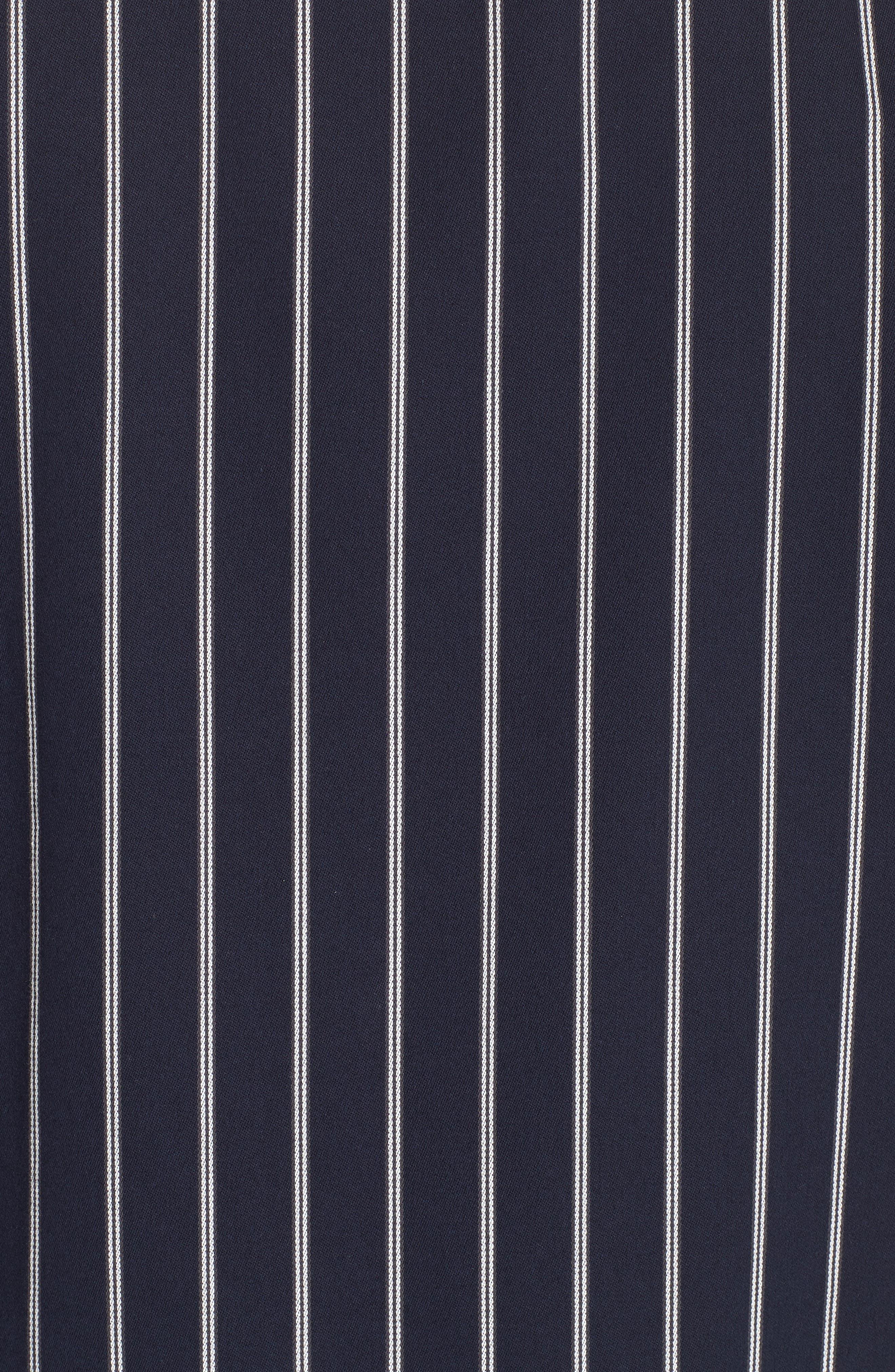 ,                             Mint Stripe Extra Slim Fit Sport Shirt,                             Alternate thumbnail 5, color,                             DARK NAVY