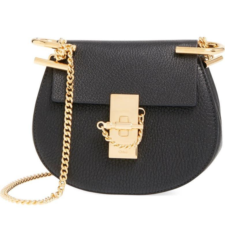 ed168a1b48 Chloé 'Nano Drew' Lambskin Leather Shoulder Bag   Nordstrom