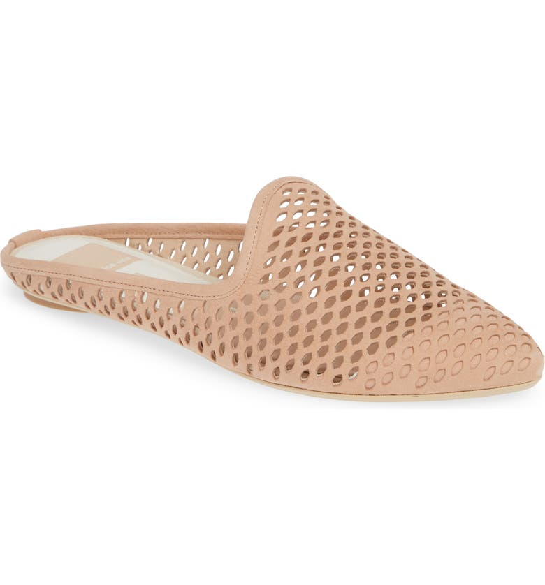 DOLCE VITA Grant Perforated Loafer Mule, Main, color, NATURAL NUBUCK