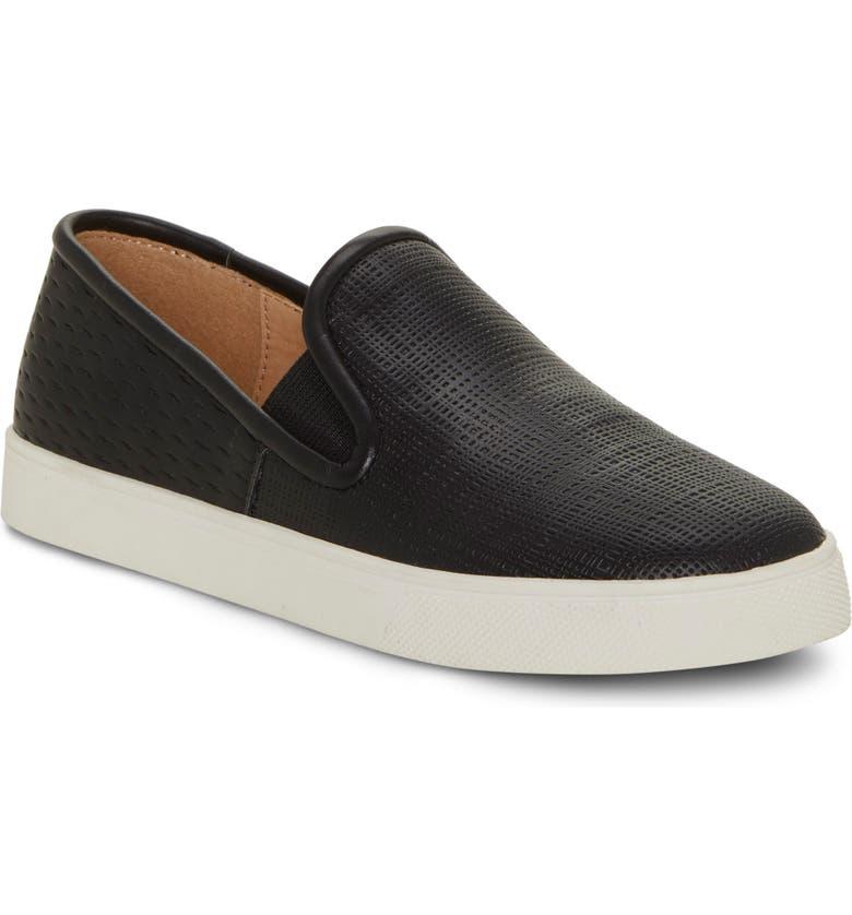 VINCE CAMUTO Bestina Glitter Slip-On Sneaker, Main, color, BLACK