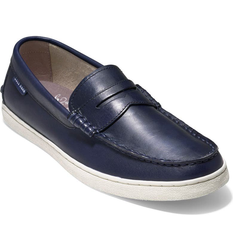 COLE HAAN Pinch Penny Loafer, Main, color, BLAZER BLUE LEATHER