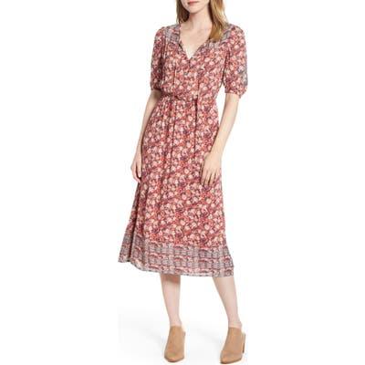 Lucky Brand Print Prairie Dress