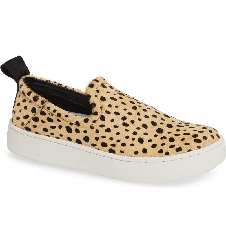 DOLCE VITA Tag Slip-On Sneaker, Main, color, LEOPARD CALF HAIR