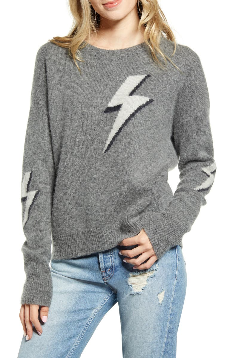 RAILS Lightning Bolt Merino Wool & Cashmere Sweater, Main, color, BOLTED