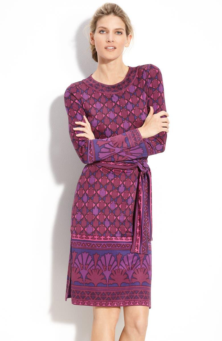 TORY BURCH 'Audra' Long Sleeve Silk Dress, Main, color, 650