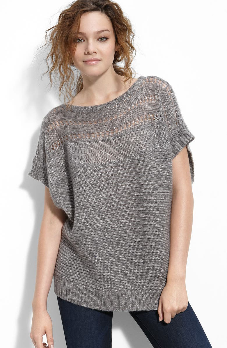 QUIKSILVER Shimmering Dolman Sleeve Sweater, Main, color, 020
