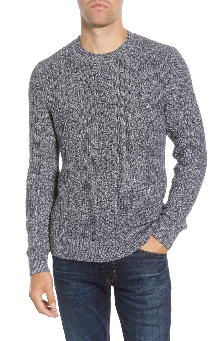 BONOBOS Slim Fit Cotton & Cashmere Crewneck Sweater, Main, color, LAPWING MARL