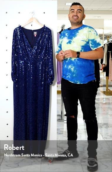 Long Sleeve Blouson Gown, sales video thumbnail