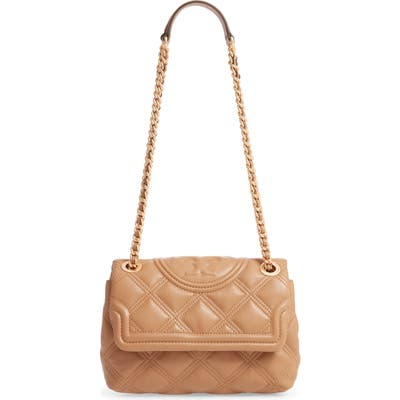 Tory Burch Small Fleming Distressed Convertible Shoulder Bag - Brown