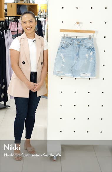 Ripped Denim Miniskirt, sales video thumbnail
