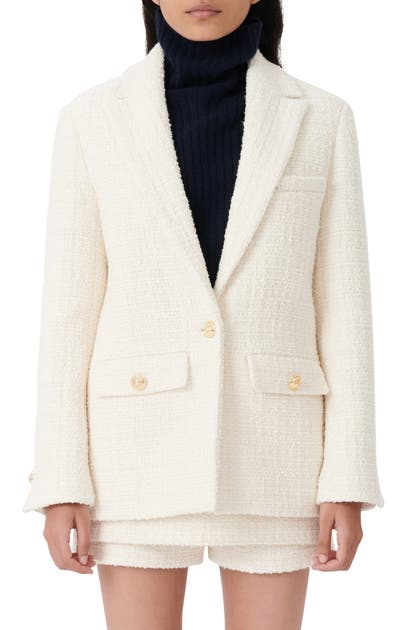 MAJE Blazers BUTTON FLAP TWEED BLAZER