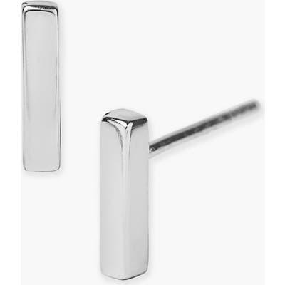 Argento Vivo Bar Stud Earrings