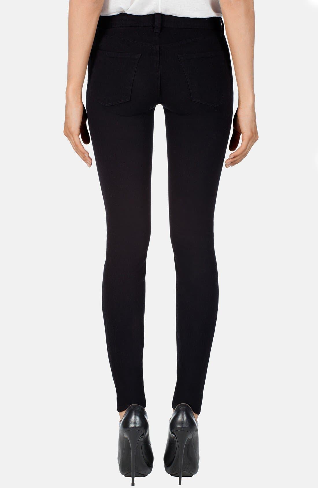 ,                             '485' Mid Rise Super Skinny Jeans,                             Alternate thumbnail 4, color,                             002