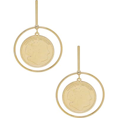 Ettika Coin & Hoop Drop Earrings