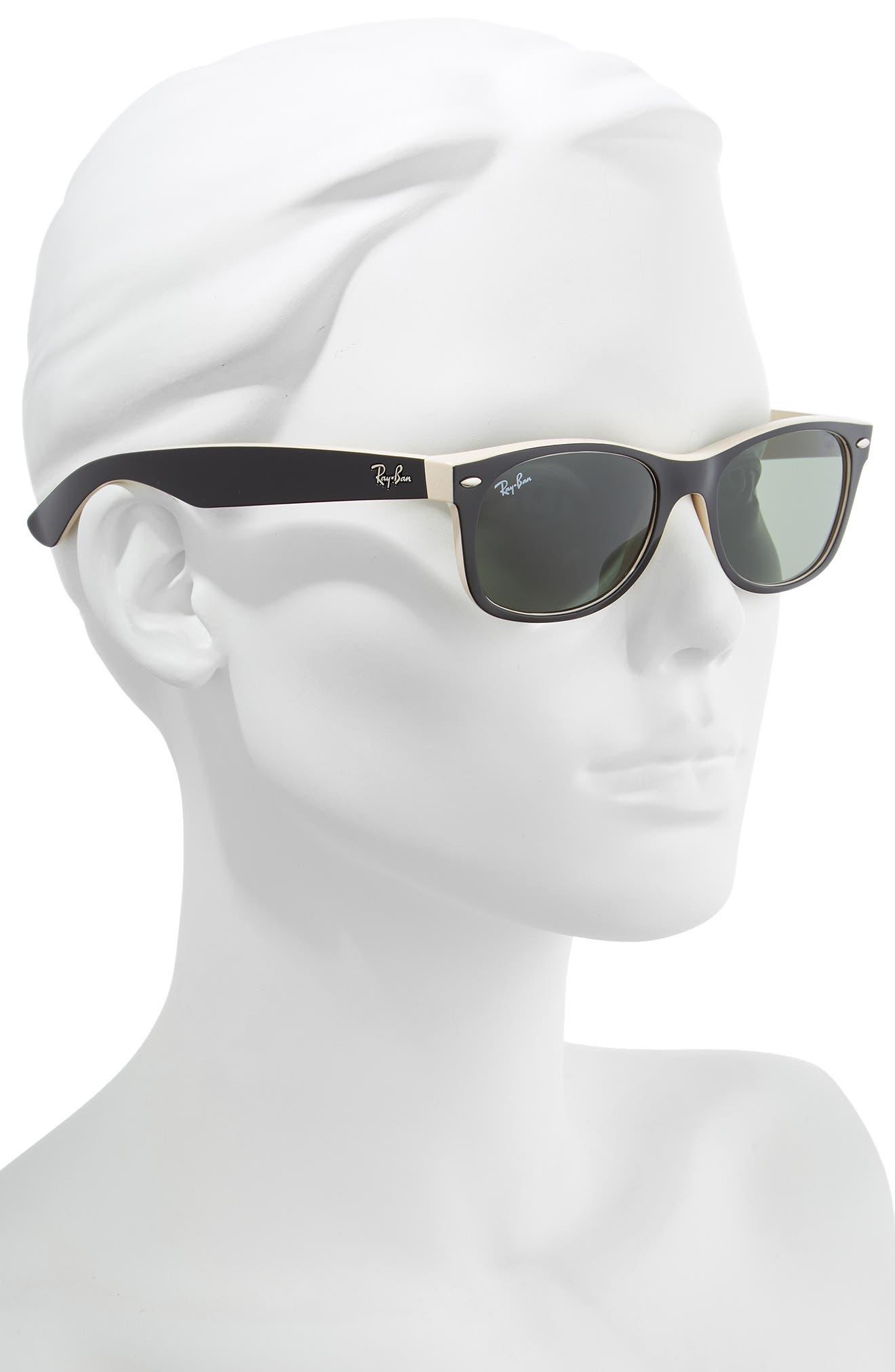 ,                             Small New Wayfarer 52mm Sunglasses,                             Alternate thumbnail 2, color,                             BLACK BEIGE/ GREEN