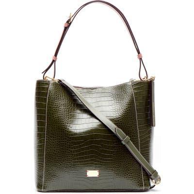 Frances Valentine June Croc Embossed Leather Tote - Green