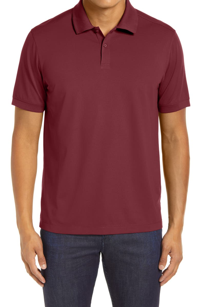 NORDSTROM MEN'S SHOP Tech-Smart Regular Fit Piqué Polo, Main, color, BURGUNDY TANNIN