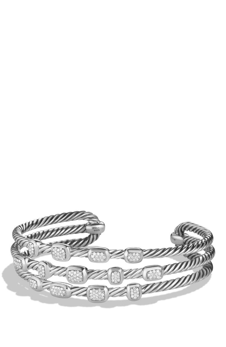 DAVID YURMAN 'Confetti' Narrow Cuff Bracelet with Diamond, Main, color, 040