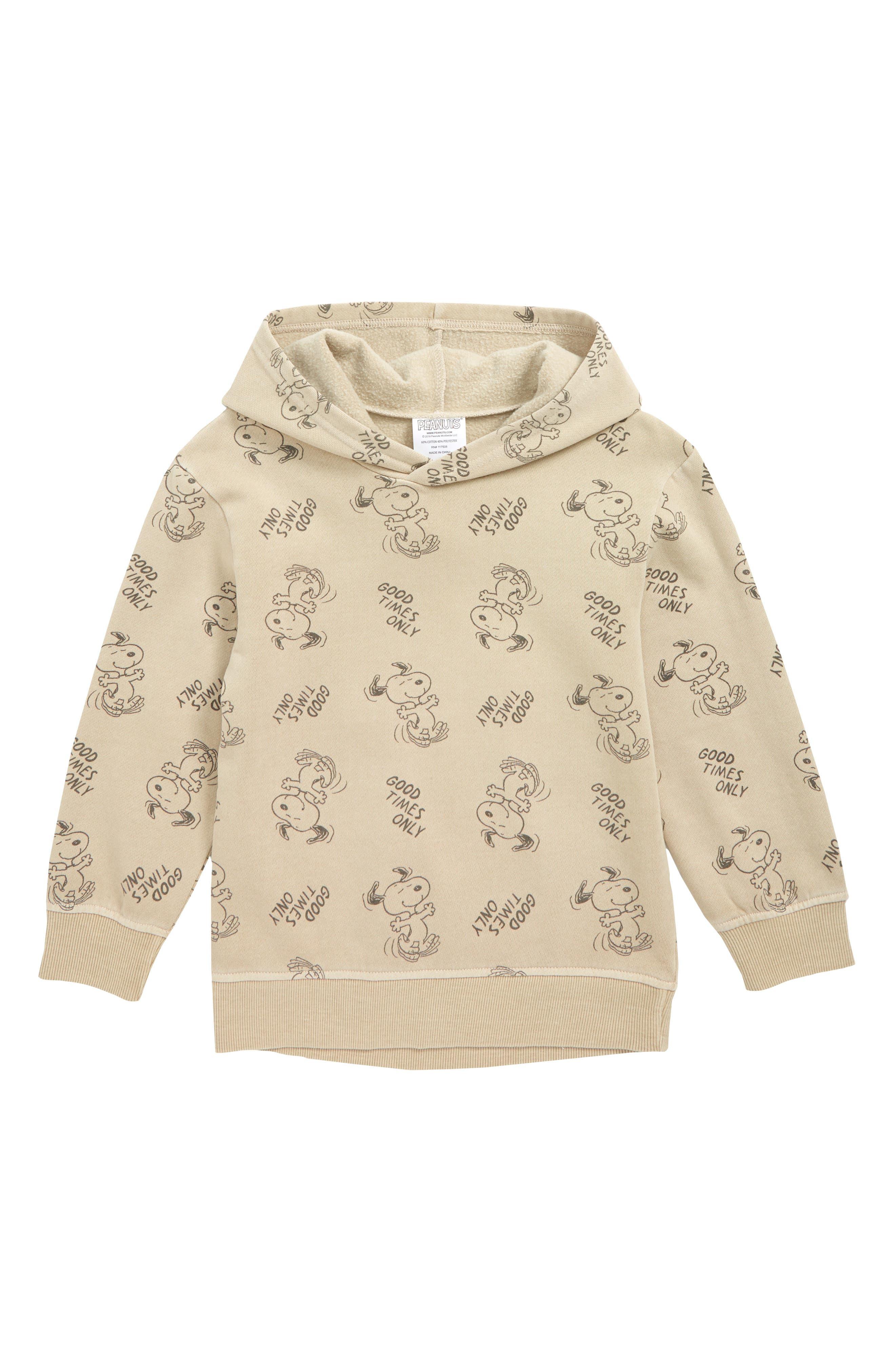 Boys Jem Snoopy Print Hooded Sweatshirt