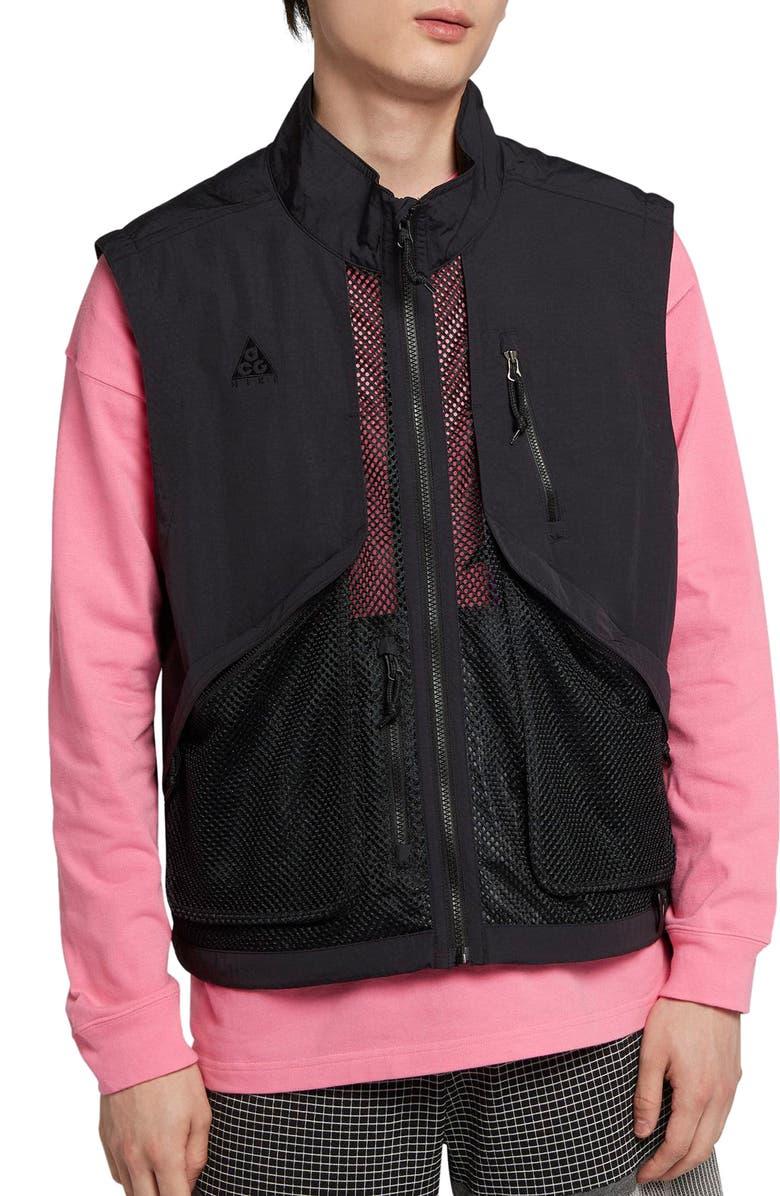 NIKE ACG Vest, Main, color, BLACK