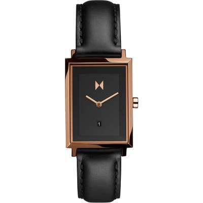 Mvmt Signature Square Leather Strap Watch, 2m