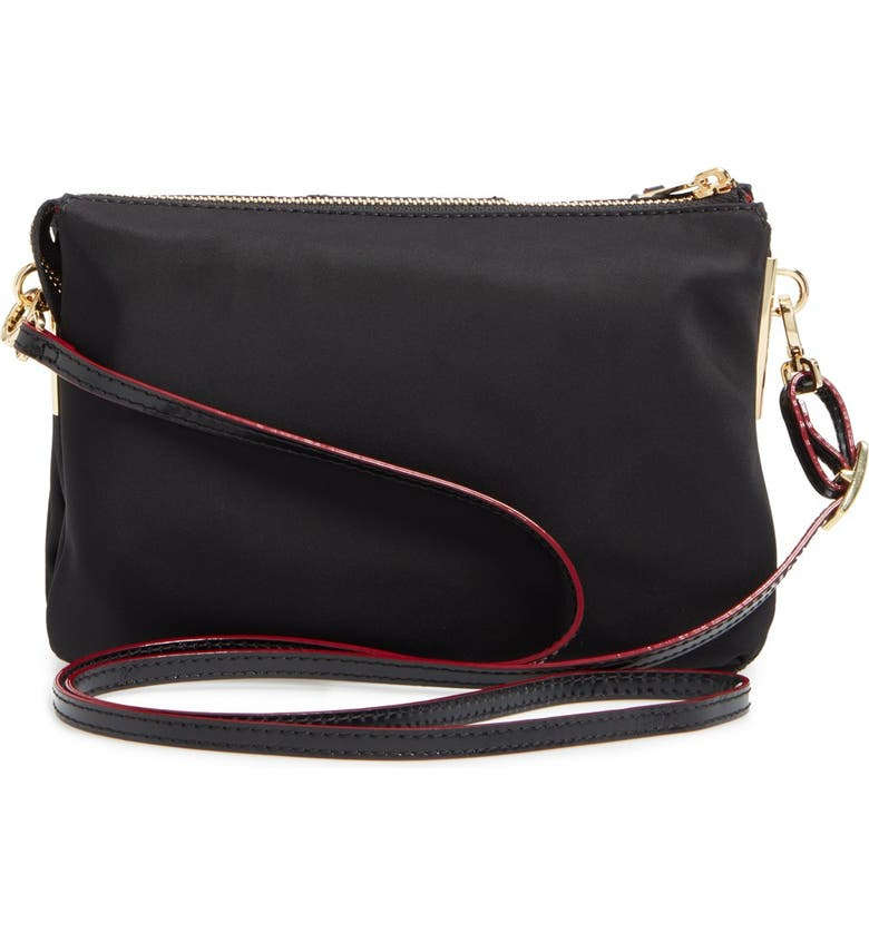 MZ WALLACE 'Pippa' Bedford Nylon Crossbody Bag, Alternate, color, BLACK BEDFORD