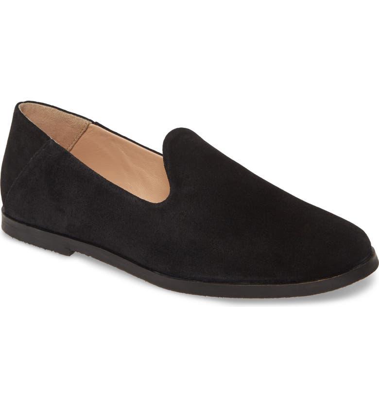 SEYCHELLES Blend In Loafer, Main, color, BLACK SUEDE