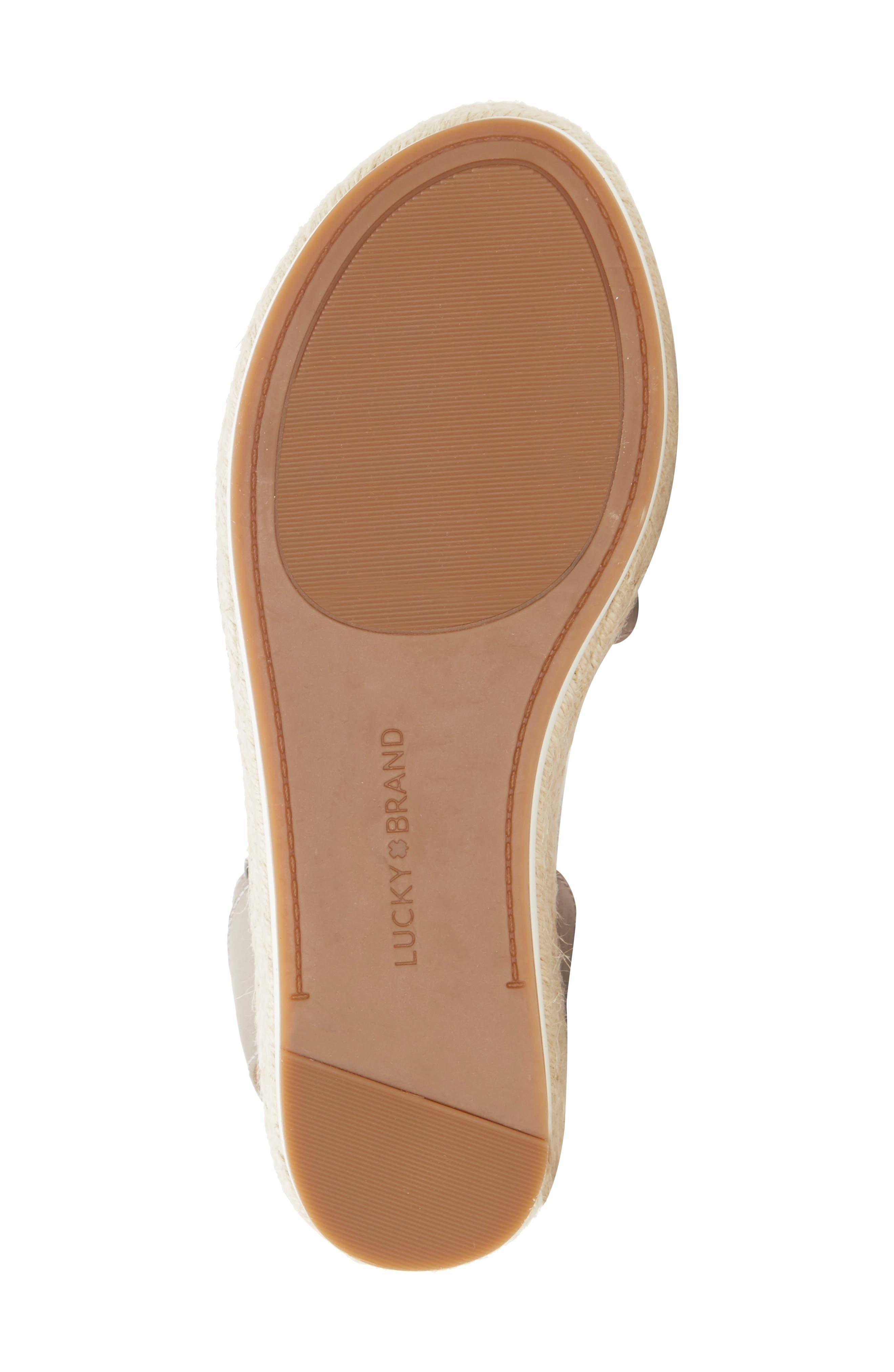 ,                             Joodith Platform Wedge Sandal,                             Alternate thumbnail 6, color,                             CHINCHILLA LEATHER
