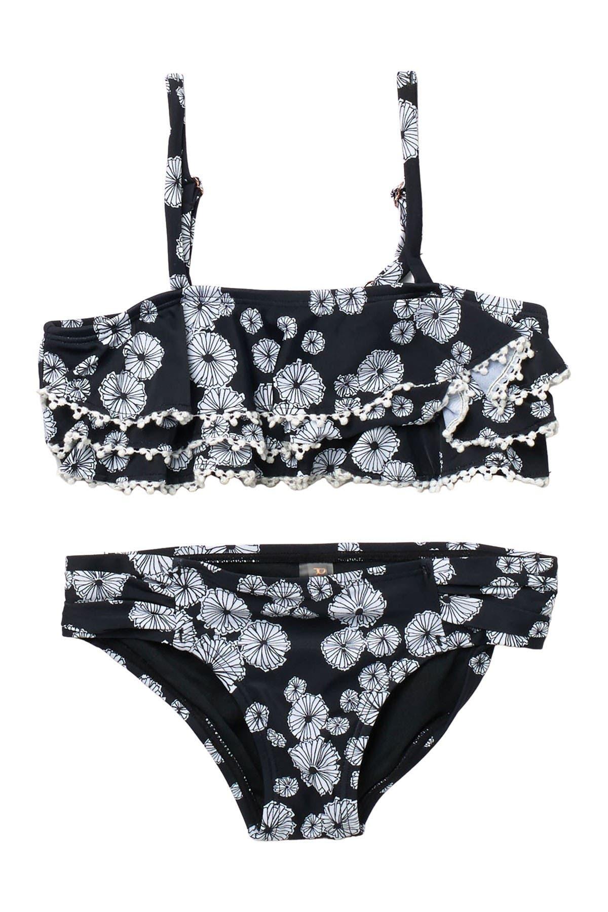 Image of RAISINS Turtle Bay Floral 2-Piece Swimsuit Set
