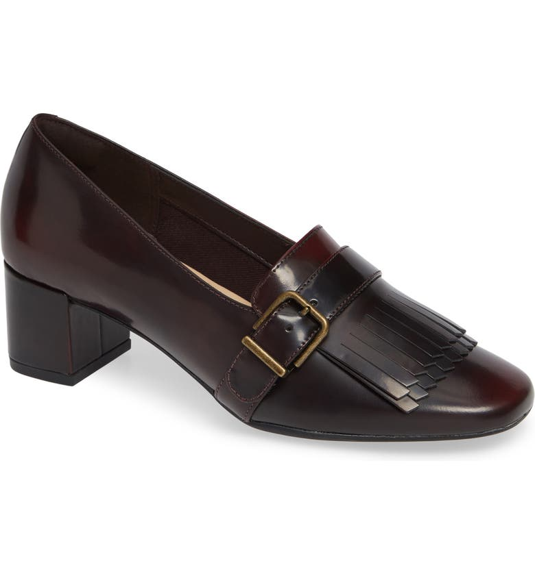 CLARKS<SUP>®</SUP> Tealia Maye Pump, Main, color, BURGUNDY PATENT LEATHER