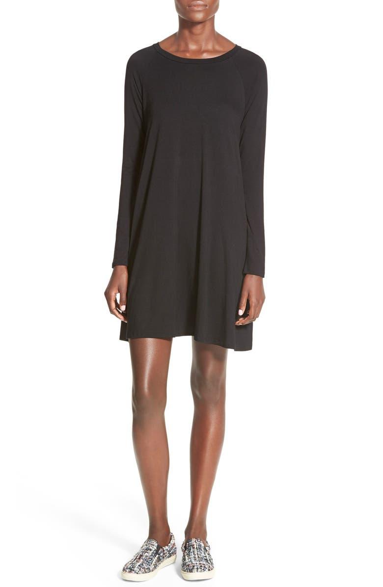 SOPRANO Long Sleeve Knit Shift Dress, Main, color, 001