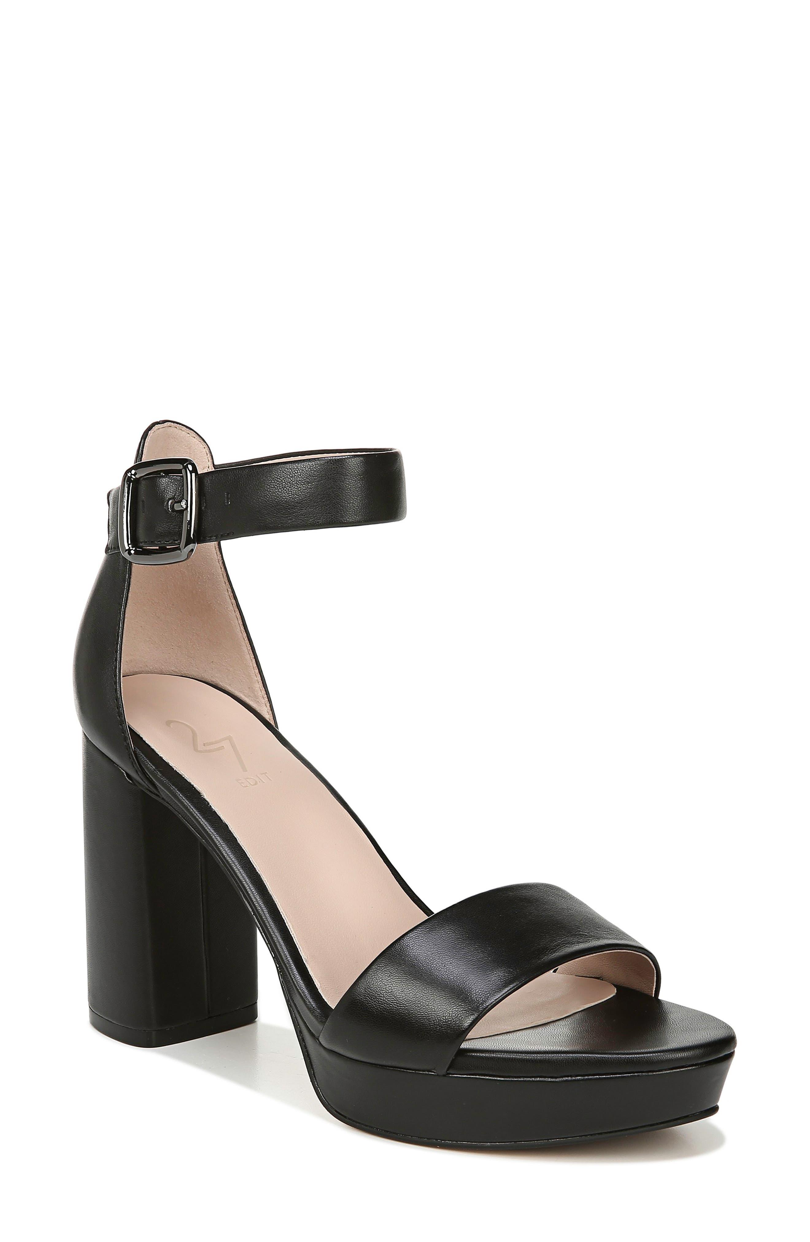 70s Clothes | Hippie Clothes & Outfits Womens 27 Edit Briar Platform Sandal Size 10 W - Black $49.99 AT vintagedancer.com