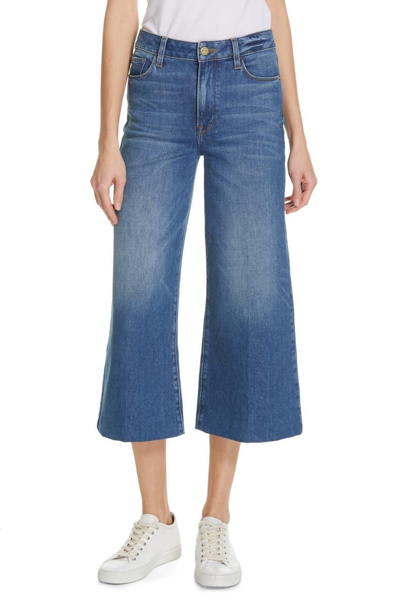 FRAME Le Vintage High Waist Crop Blind Stitch Jeans, Main, color, WEBSTER