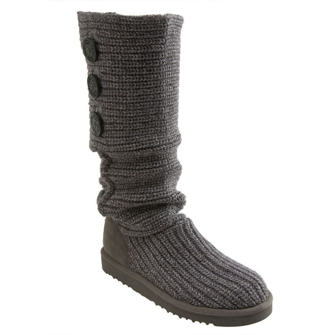 ,                             'Cardy' Classic Knit Boot,                             Alternate thumbnail 75, color,                             GRY