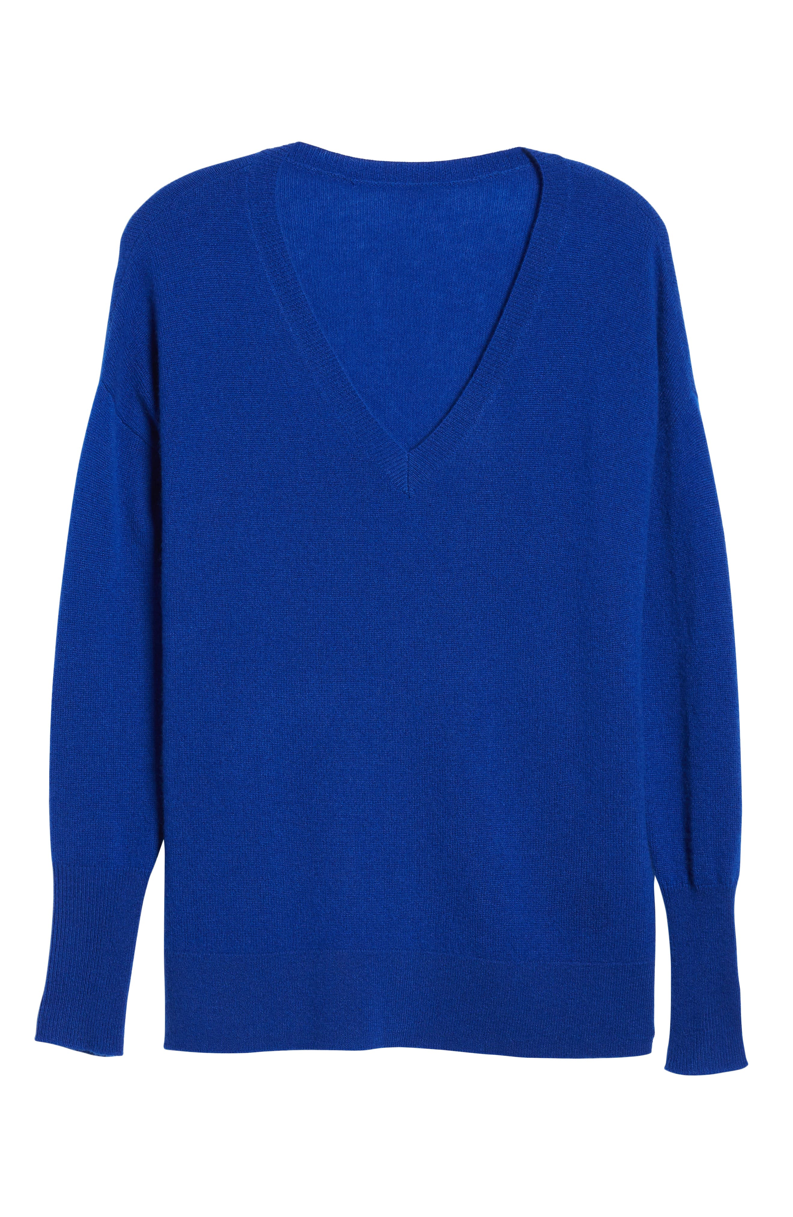 ,                             Relaxed V-Neck Cashmere Sweater,                             Alternate thumbnail 48, color,                             400