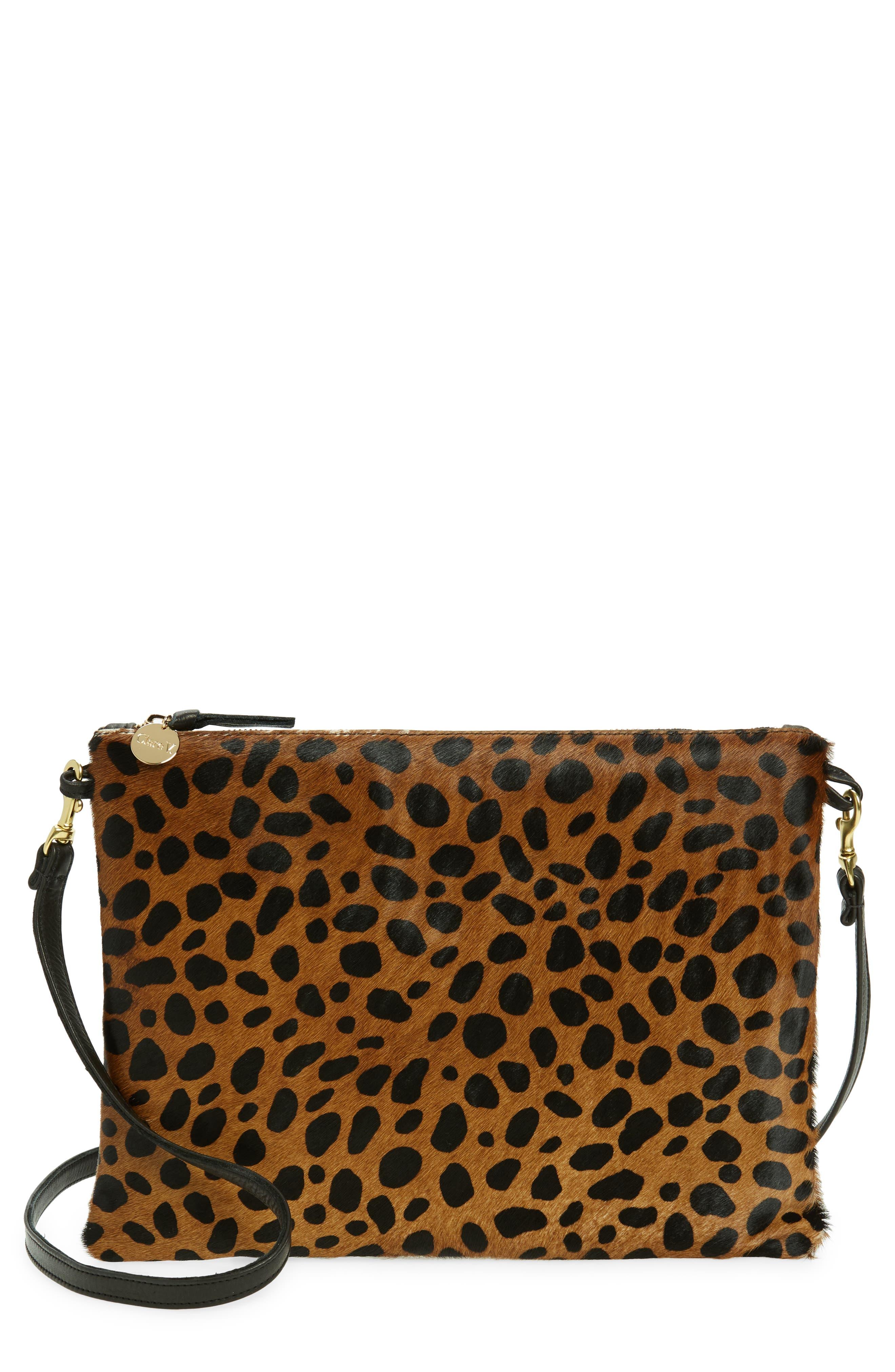 Sac Bretelle Leather & Genuine Calf Hair Crossbody Bag