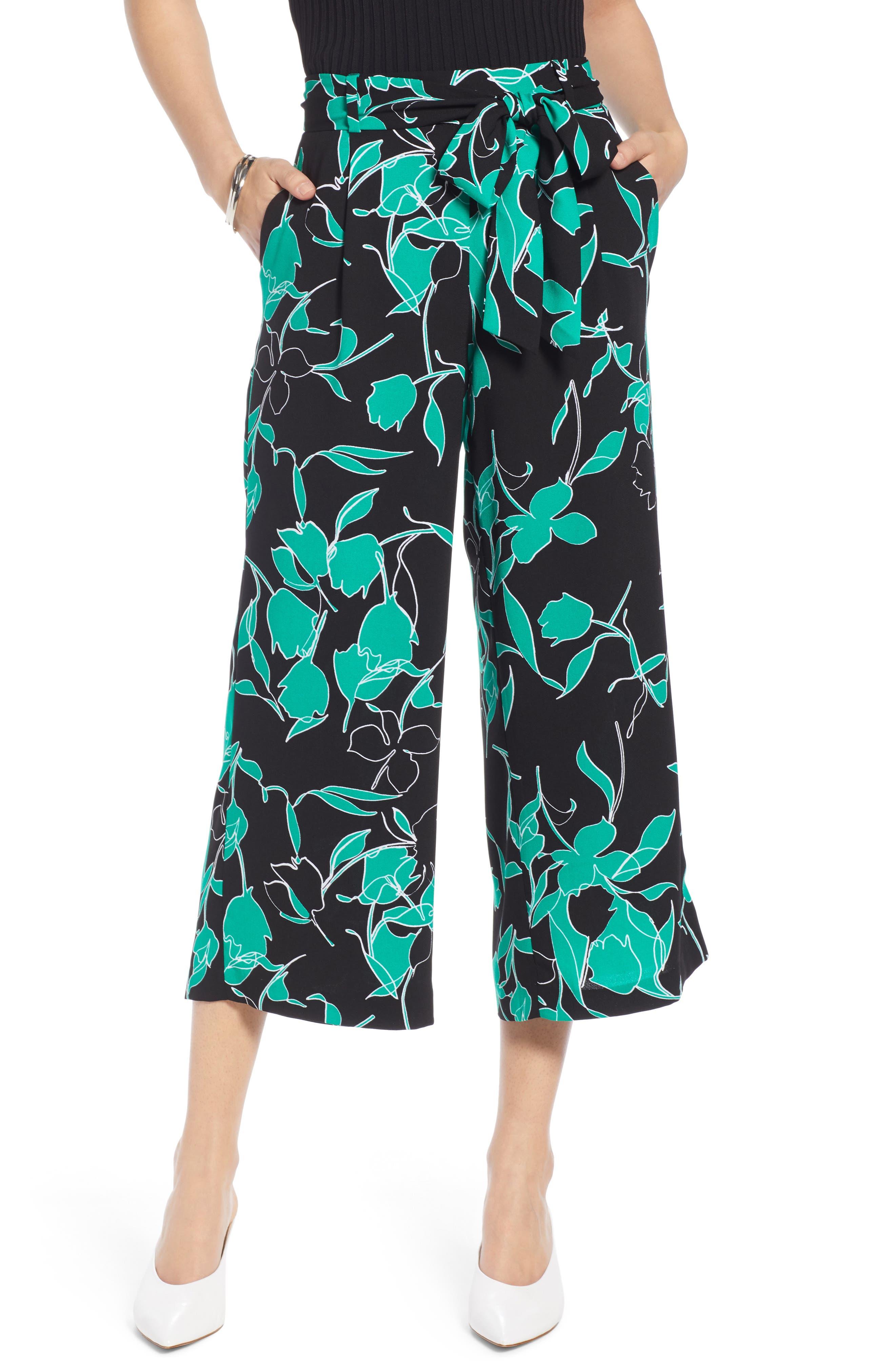 ,                             Wide Leg Crop Pants,                             Main thumbnail 32, color,                             008