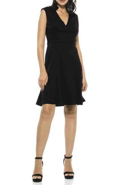 Image of Alexia Admor Adelyn V-Neck Fit & Flare Dress