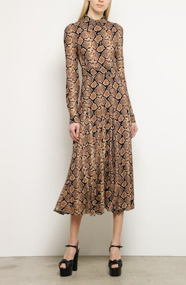 Michael Kors Belted Long Sleeve Crushed Georgette Shirtdress, video thumbnail